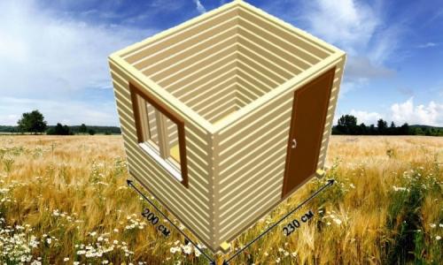 Дачная деревянная бытовка 2х2,3 м одним помещением