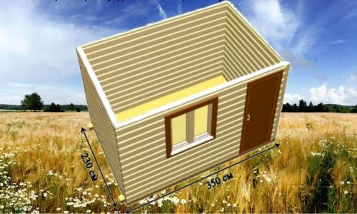 Дачная деревянная бытовка 3,5х2,3 м одним помещением
