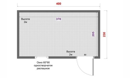 Хозяйственная постройка 4х2,3 м